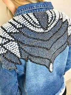 Denim Fashion, Look Fashion, Fashion Outfits, Womens Fashion, Estilo Jeans, Denim And Diamonds, Denim Crafts, Jeans Denim, Couture Details