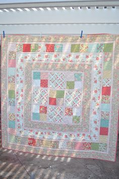 Lovely strawberry fields quilt