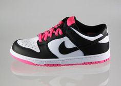 Womens Nike Dunk Low - BlackPinkWhite 1