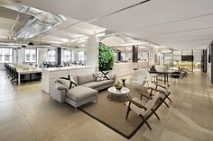 'A Big, Bold, Natural Element': Employers Are Bringing Nature Indoors To Increase Employee Happiness, Productivity Workspace Design, Office Interior Design, Interior Design Inspiration, Office Designs, Corporate Interiors, Office Interiors, Warehouse Design, Green Office, Office Lounge