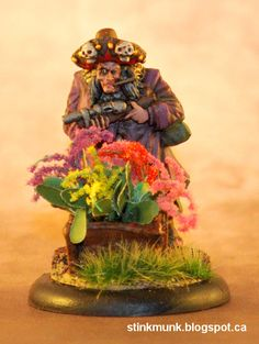 Abuela Ortega, First Edition.  Model by Wyrd Miniatures, painted by Stinkmunk (2012).  #Malifaux