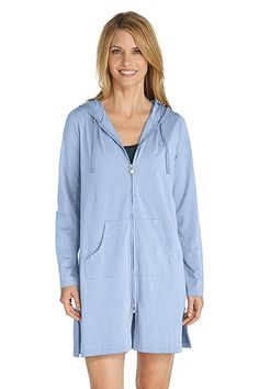We love this UPF 50+ staple! Great for vacations as a cover up this light zip-up will keep you covered. It's sun protection you wear!