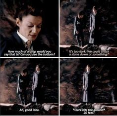 Oh Missy... (you so fine)--->HA! Didn't she tell Clara she had rocks for brains once? Or did the Doctor tell someone that?