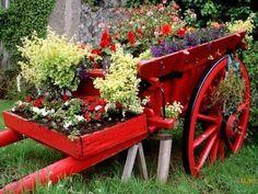 carrinho_de_flores para jardim