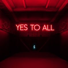 Yes To All - Sylvie Fleury - Salon 94 all? Neon Light Signs, Neon Signs, Lettering, Typography, Sylvie Fleury, Neon Licht, Neon Words, Neon Glow, Red Aesthetic