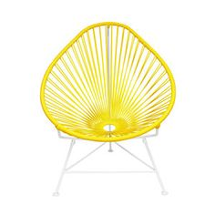 Cancun Chair with White Base in Yellow