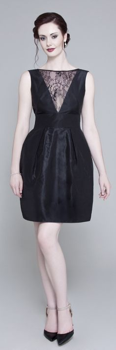 Please support our #BritishLBD collection on #Kickstarter! We have just 12 days left to reach our funding target!  Lois is our silk taffeta party frock designed for the more petite frame, with a plunging v neck and a delicate lace insert.  Pledge your support for British craftsmanship here kck.st/1A9OwcC  #MadeinBritain #London #Fashion #Style #LBD #LittleBlackDress #Handmade