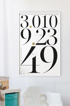 Personalisierte Poster zur Geburt und gedruckt auf Fine-Art-Papier von Hahnemühle. #baby #poster #birth #geburt #artprint #typografie #typography #grafikdesign #yourownage #plakat #geschenk #geschenkidee
