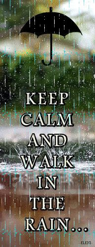 .keep calm and walk in the rain.