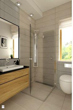 Łazienka styl skandynawski - Mała łazienka w domu jednorodzinnym z oknem, styl skandynawski - zdjęcie od Carolineart