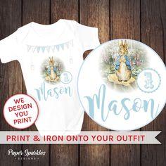 Customised Peter rabbit or Jemima Puddleduck t shirt transfer. PRINT and IRON…