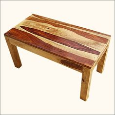 Rustic Solid Indian Rosewood Rectangular Cocktail #CoffeeTable with Sturdy Block Legs. Entirely handmade from Solid #IndianRosewood, the wood is treated and seasoned before being hand polished in a double tone natural wood stain. A lengthy hand waxing process give the piece a long lasting amazing finish. This Great Table has an Uncomplicated Design that will easily blend into any decorating style. #interiors #contemporaryfurniture #homedecor #furniture #homeinspiration…
