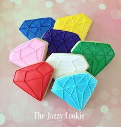 Gem cookies, love the credit : The Jazzy Cookie. heck yeah.