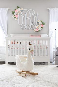 Peach Peony and Lambs Ear Wreath // Nursery Decor // Boho Nursery // Farmhouse Decor // Lambs Ear Wr Rose Nursery, Ballerina Nursery, Floral Nursery, Nursery Wall Decor, Baby Room Decor, Nursery Room, Paris Nursery, Lamb Nursery, Rustic Nursery