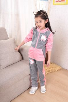 Girls hello kitty clothing sets sport suit hoody jackets+pants  3-12 Years HelloKitty Party    Very Cute ! !  Like and share!   Get yours here  http://HelloKittyParty.com   #hellokittylover #hellokitty #hellokittyaddict