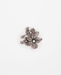 ZARA - WOMAN - SHINY FLOWER BROOCH