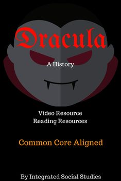 I created this short video lesson about the history of vampires, vampire literature, and a look at the real-life history of Vlad III the Impaler. Social Studies Activities, Teaching Social Studies, Reading Resources, Teacher Resources, World History, European History, Creative Teaching, Teaching Ideas, Vampire Stories
