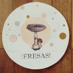 """ Fresas "" pieza única #Himallineishon #art #illustration #vintage #drawing"