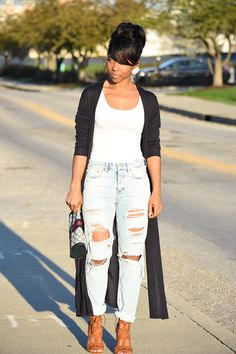 Boyfriend Jeans, Maxi Kimono, , Outfit Idea, Jean Outfit Ideas, Spring Outfit Idea, Indianapolis Style Blogger