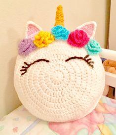 Unicorn Pattern, Unicorn Crochet Pillow Pattern, crochet Patterns on sale, crochet unicorn, easy beginner crochet patterns - Crochet Home, Crochet Gifts, Cute Crochet, Crochet For Kids, Crochet Baby, Crochet Ideas To Sell, Crochet Wraps, Crochet Dolls, Baby Knitting