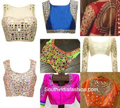mirror work never goes out of fashion. Here are a few mirror work blouse designs for you