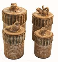 Canister Set, by McCarty's Pottery, Merigold, MS $360.00 LOVE!