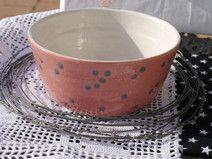 *rosa- weiße  Lieblingsstück mit grauen Pünktchen*