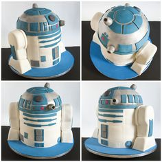 R2D2 Cake. Chocolate, lemon and violets with fondant!!!!!