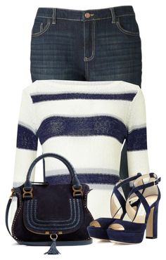 """""""Untitled #22879"""" by nanette-253 ❤ liked on Polyvore featuring Simply Vera, Precis Petite, Chloé and Jimmy Choo"""