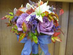 Flowers Fall and Lavender Mix Flower Bouquet