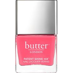 butter LONDON Patent Shine 10X Nail Lacquer, Flusher Blusher 0.4 oz... ($18) ❤ liked on Polyvore featuring beauty products, nail care, nail polish, fillers, nail, beauty, makeup, butter london, butter london nail lacquer and butter london nail polish