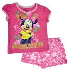 Minnie Mouse Toddler Girls 2-Piece Shorts Set