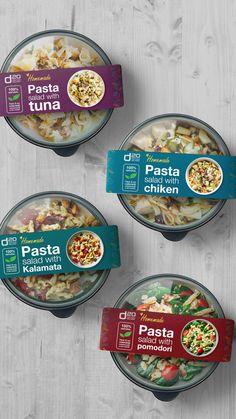 Salad Packaging, Food Box Packaging, Food Packaging Design, Coffee Packaging, Bottle Packaging, Food Graphic Design, Menu Design, Food Design, Label Design