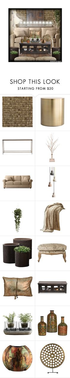 """Lighting Is Everything (FULL HOME)"" by anmarga ❤ liked on Polyvore featuring interior, interiors, interior design, home, home decor, interior decorating, ARTE, Mitchell Gold + Bob Williams, Seasonal Specialties and Nearly Natural"