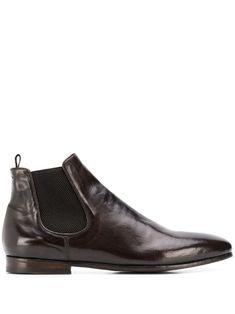 Officine Creative 'revien' Stiefel In Brown Shoe Boots, Men's Boots, Officine Creative, Brown Ankle Boots, Distressed Leather, Dark Brown, Chelsea Boots, Women Wear, Slip On