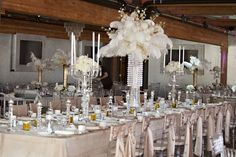 Head table in the center of the reception, not only makes you center of attention but also makes you feel like part of the party as well.