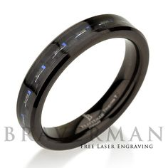 Black Tungsten Wedding Band Mens Wedding Bands by BravermanOren