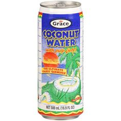 Grace Agua de Coco con Pulpa / Coconut Water with Pulp 8 Pack -- Click image to read more details. Coconut Water Shampoo, Coconut Water Brands, Coconut Water Recipes, Coconut Water Smoothie, Coconut Water Benefits, Coconut Drinks, Coconut Oil For Acne, Coconut Oil Uses, Coconut Cream