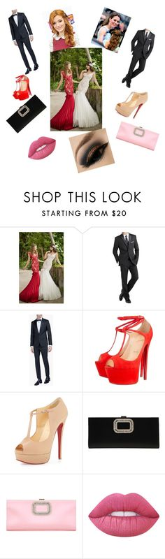 """Red Carpet 1D This Is Us Film Premier"" by lishi02 on Polyvore featuring Tarik Ediz, International, Dsquared2, Christian Louboutin, Roger Vivier and Lime Crime"