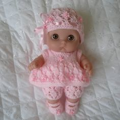 Creative Dolls Designs Knitting Pattern For Lil Cutesies Berenguer Dolls Baby Doll Clothes, Crochet Doll Clothes, Doll Clothes Patterns, Doll Patterns, Baby Dolls, Pattern Ideas, Crochet Doll Pattern, Crochet Dolls, Crochet Patterns