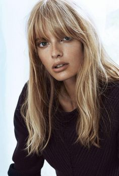 julia stegner blonde fringe