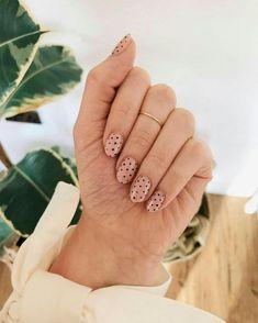 139 cute nail designs for every nail length & season 2 Cute Acrylic Nails, Cute Nails, Pretty Nails, Glitter Nails, Dot Nail Art, Polka Dot Nails, Polka Dots, Cheetah Nails, Dot Nail Designs