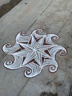 Rangoli Borders, Rangoli Border Designs, Colorful Rangoli Designs, Beautiful Rangoli Designs, Kolam Designs, Easy Rangoli Designs Videos, Alpona Design, Padi Kolam, Indian Rangoli
