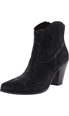 Donald J Pliner Women's Pablo-RK Western Boot, Black Reverse Calf, 7 M US Best Price