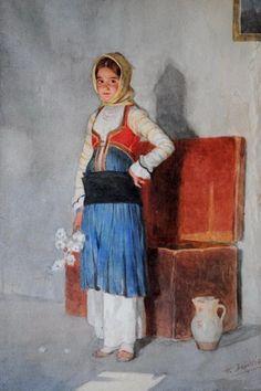 Folklore, Watercolor, Costumes, Artist, Figure Drawings, School Ideas, Kindergarten, Portraits, Paintings