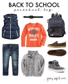 Style boards featuring the most darling back to school clothes for kids from around the web.