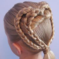 2 Braided Hearts | Valentine's Day Hairstyle (17) - Great website for hair ideas for a girl.