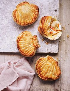 Try our scallop pie recipe. These mini scallop shell pies make an easy fish pie with scallops. Try our scallops in puff pastry recipe using fresh scallops Puff Pastry Recipes, Pie Recipes, Seafood Recipes, Snack Recipes, Cooking Recipes, Snacks, Shellfish Recipes, Savoury Recipes, Appetizer Recipes
