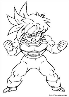 dibujos de dragon ball z para colorear free printable coloring pageskids - Free Printable Dragon Ball Z Colouring Pages