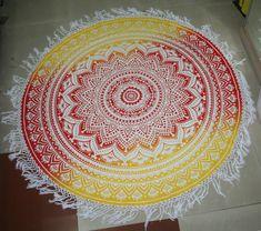 Indian Ombre Mandala Round Tassel Tapestry Beach Throw Blanket Yoga Mat Bohemian for sale online Mandala Throw, Mandala Print, Tapestry Beach, Mandala Tapestry, Picnic Blanket, Outdoor Blanket, Hippie Boho, Bohemian, Blankets For Sale